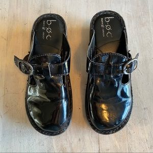 B.O.C. Born Patent Leather Black Clogs